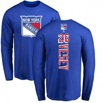 Men's Jimmy Vesey New York Rangers Backer Long Sleeve T-Shirt - Royal
