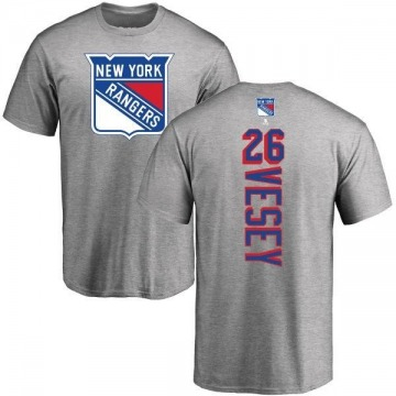 Men's Jimmy Vesey New York Rangers Backer T-Shirt - Ash