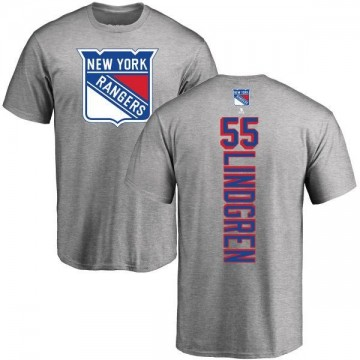 Men's Ryan Lindgren New York Rangers Backer T-Shirt - Ash