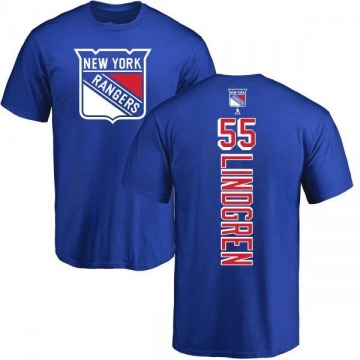 Men's Ryan Lindgren New York Rangers Backer T-Shirt - Royal