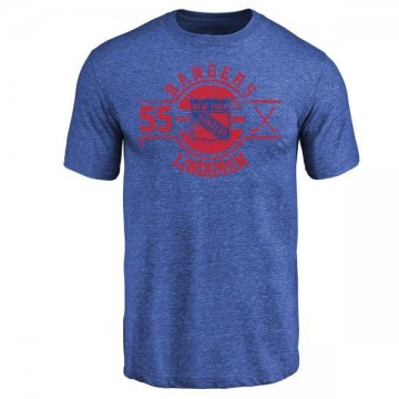 Men's Ryan Lindgren New York Rangers Insignia Tri-Blend T-Shirt - Royal