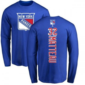 Men's Stephane Matteau New York Rangers Backer Long Sleeve T-Shirt - Royal