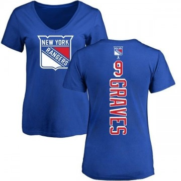 Women's Adam Graves New York Rangers Backer T-Shirt - Blue