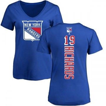 Women's Brad Richards New York Rangers Backer T-Shirt - Blue