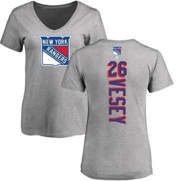Women's Jimmy Vesey New York Rangers Backer T-Shirt - Ash