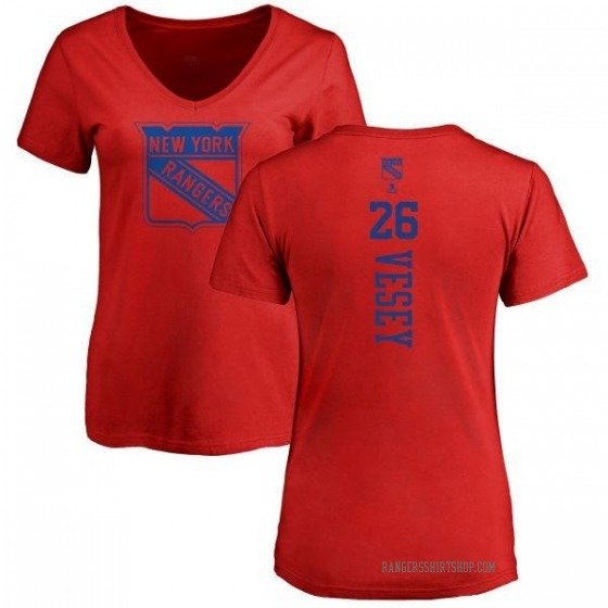Women's Jimmy Vesey New York Rangers One Color Backer T-Shirt - Red