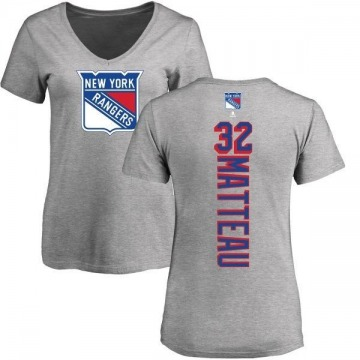 Women's Stephane Matteau New York Rangers Backer T-Shirt - Ash