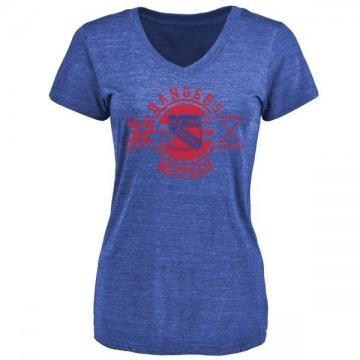 Women's Stephane Matteau New York Rangers Insignia Tri-Blend T-Shirt - Royal