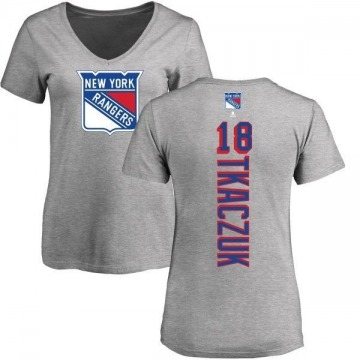 Women's Walt Tkaczuk New York Rangers Backer T-Shirt - Ash
