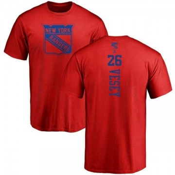 Youth Jimmy Vesey New York Rangers One Color Backer T-Shirt - Red